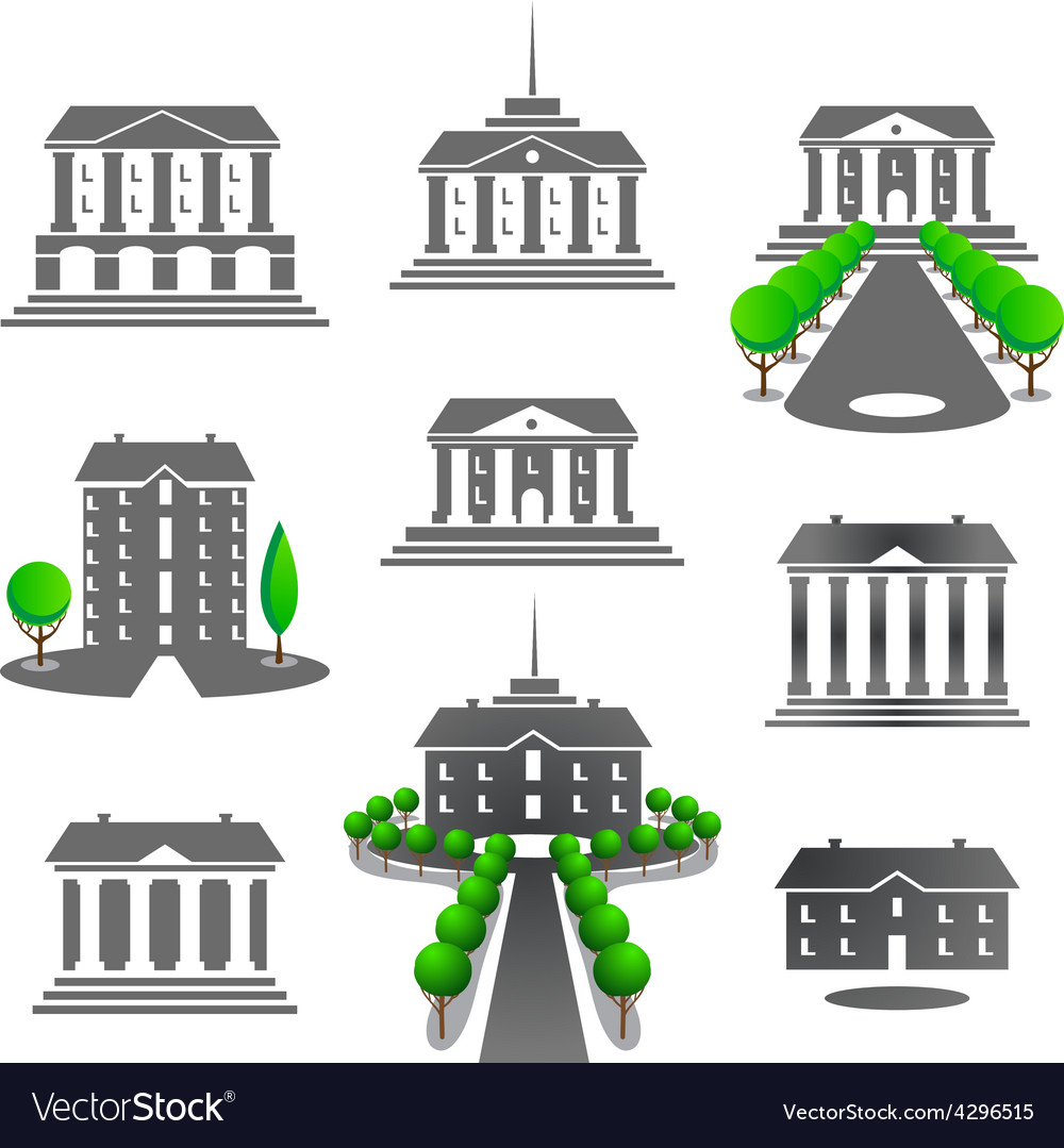 Business buildings vector | Price: 1 Credit (USD $1)