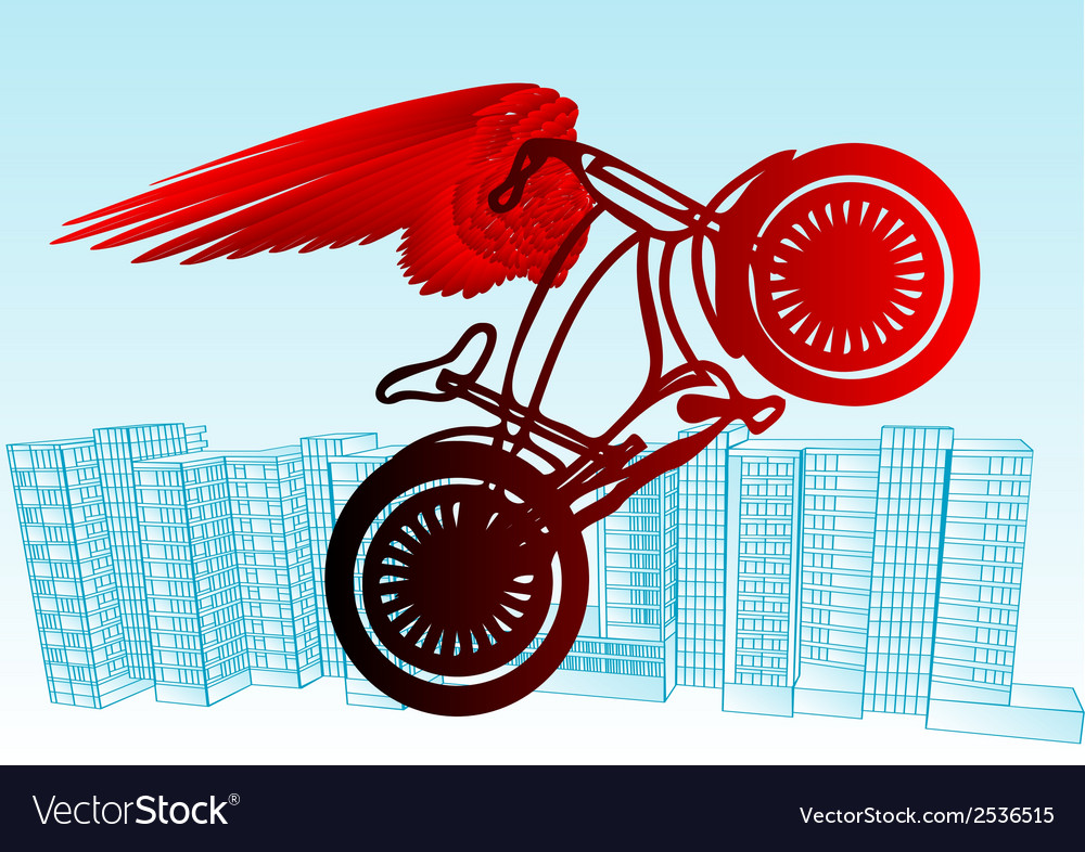 Cyclist urban vector | Price: 1 Credit (USD $1)
