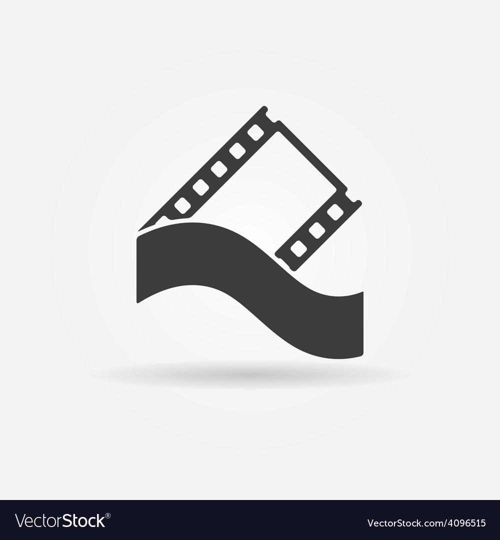 Film strip concept logo or icon vector | Price: 1 Credit (USD $1)