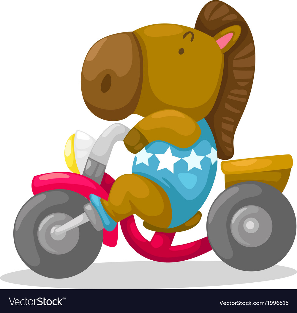 Horse on motorcycle vector | Price: 1 Credit (USD $1)
