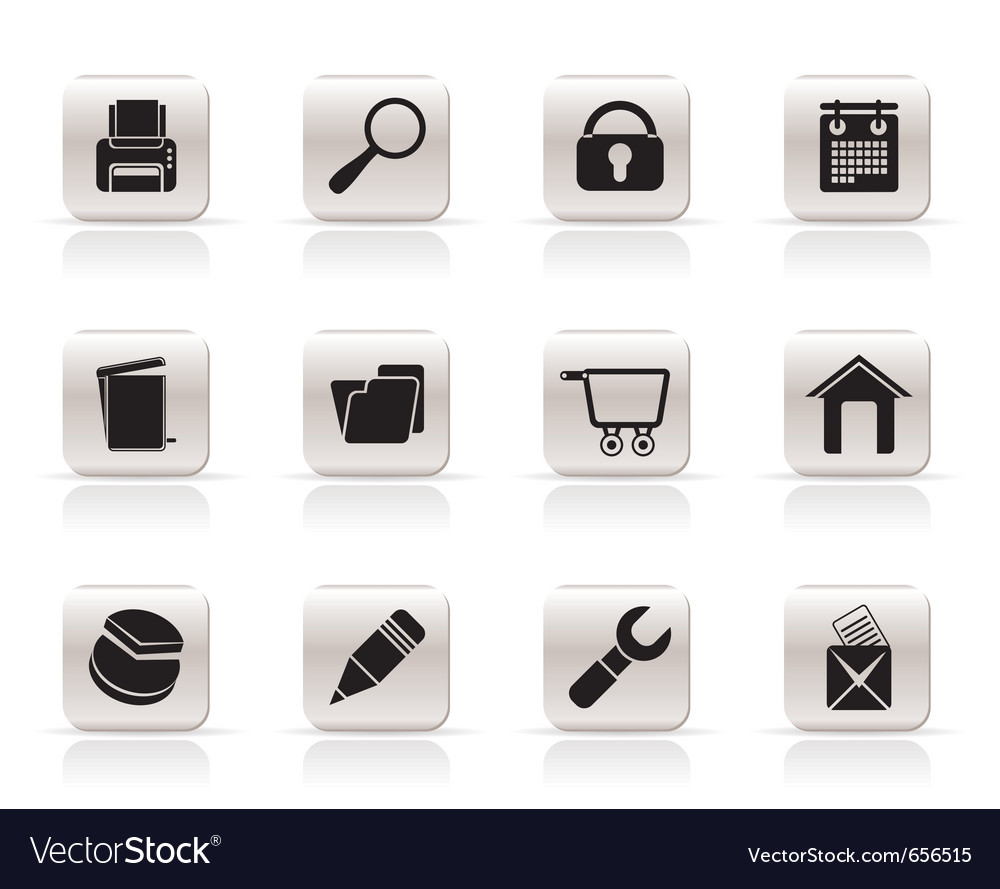 Internet and computer icons vector | Price: 1 Credit (USD $1)