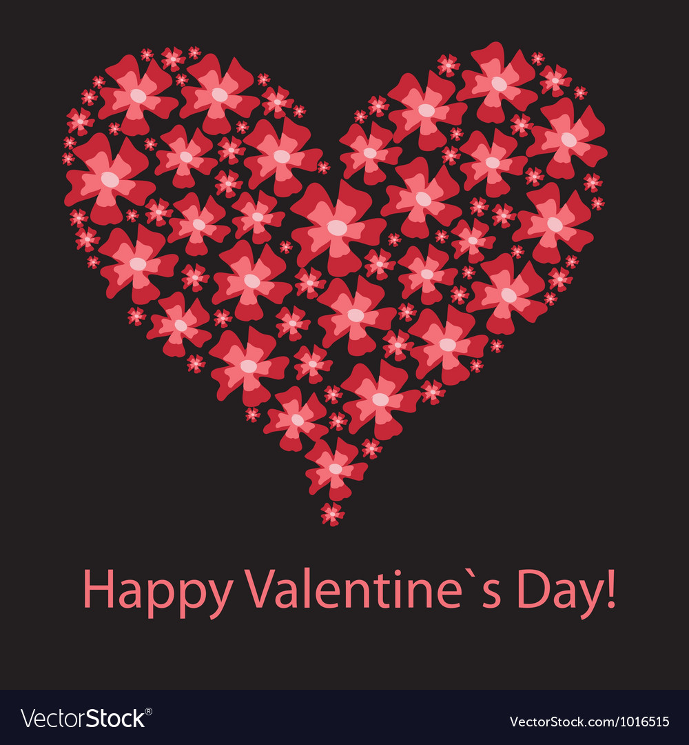 Red valentine heart in floral style vector | Price: 1 Credit (USD $1)