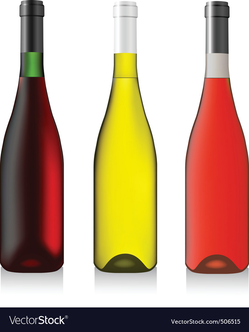 Three bottles wine vector | Price: 3 Credit (USD $3)
