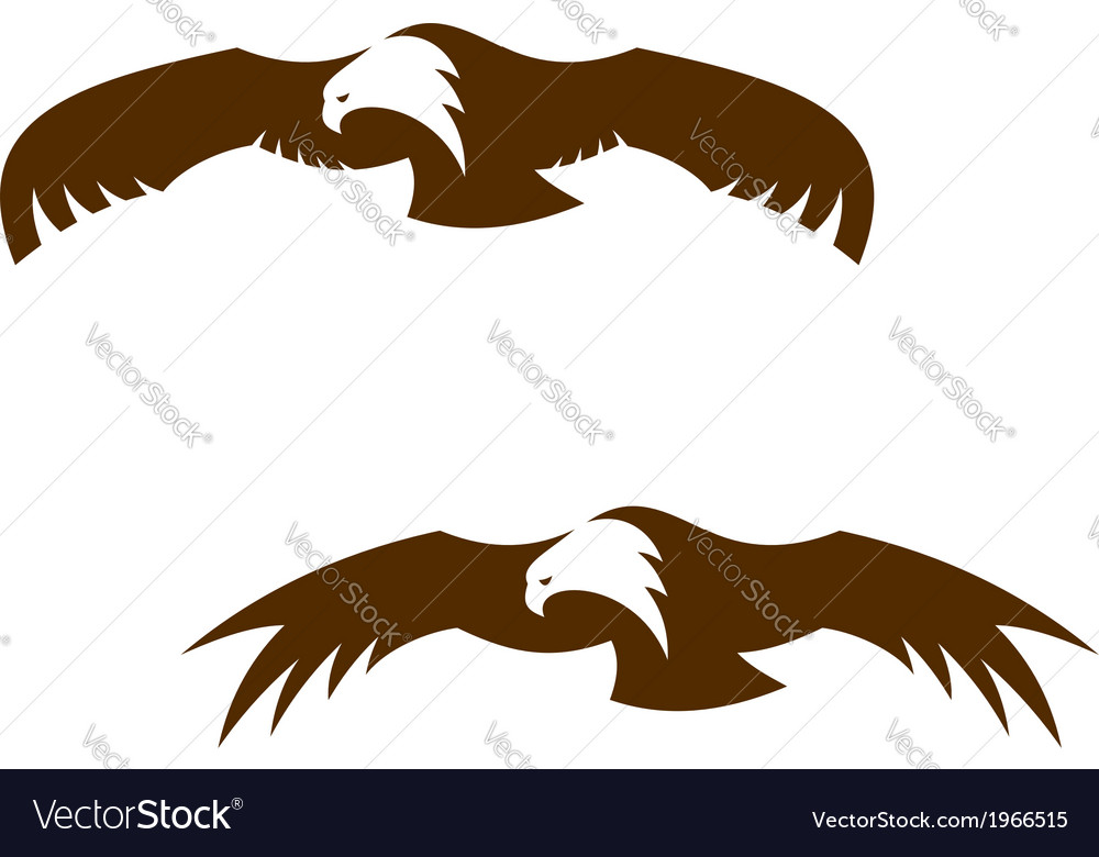 Two flying eagles with outspread wings vector | Price: 1 Credit (USD $1)