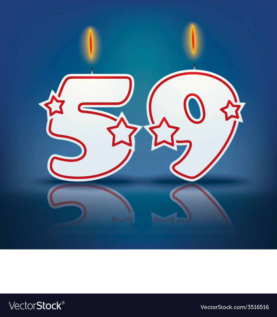 Birthday candle number 59 vector | Price: 1 Credit (USD $1)