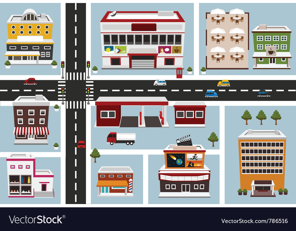 Commercial area vector | Price: 3 Credit (USD $3)