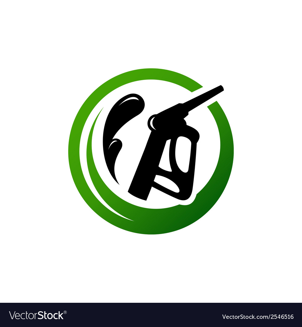 Eco fuel sign vector | Price: 1 Credit (USD $1)