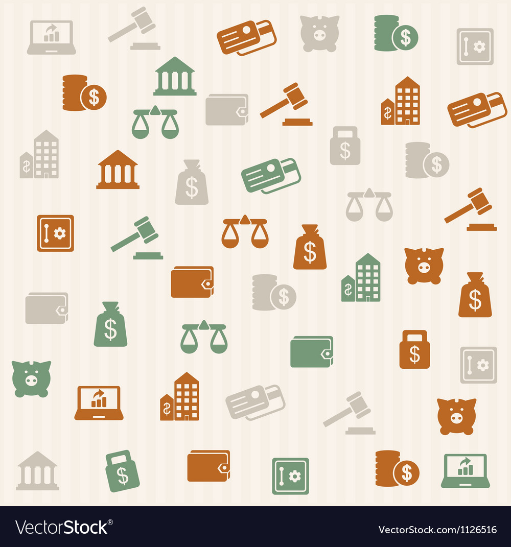 Finance seamless pattern vector | Price: 1 Credit (USD $1)