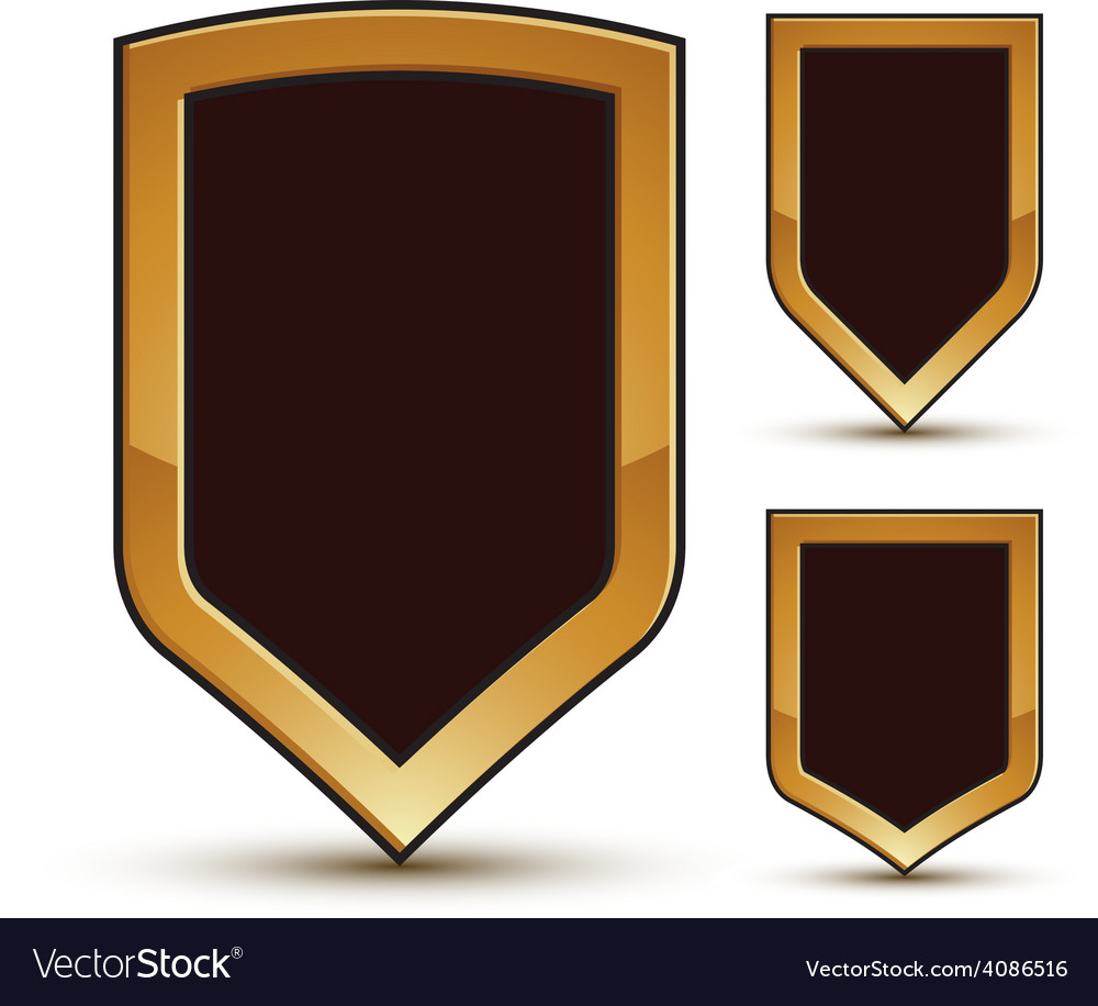 Geometric glamorous shield shape elements with vector | Price: 1 Credit (USD $1)