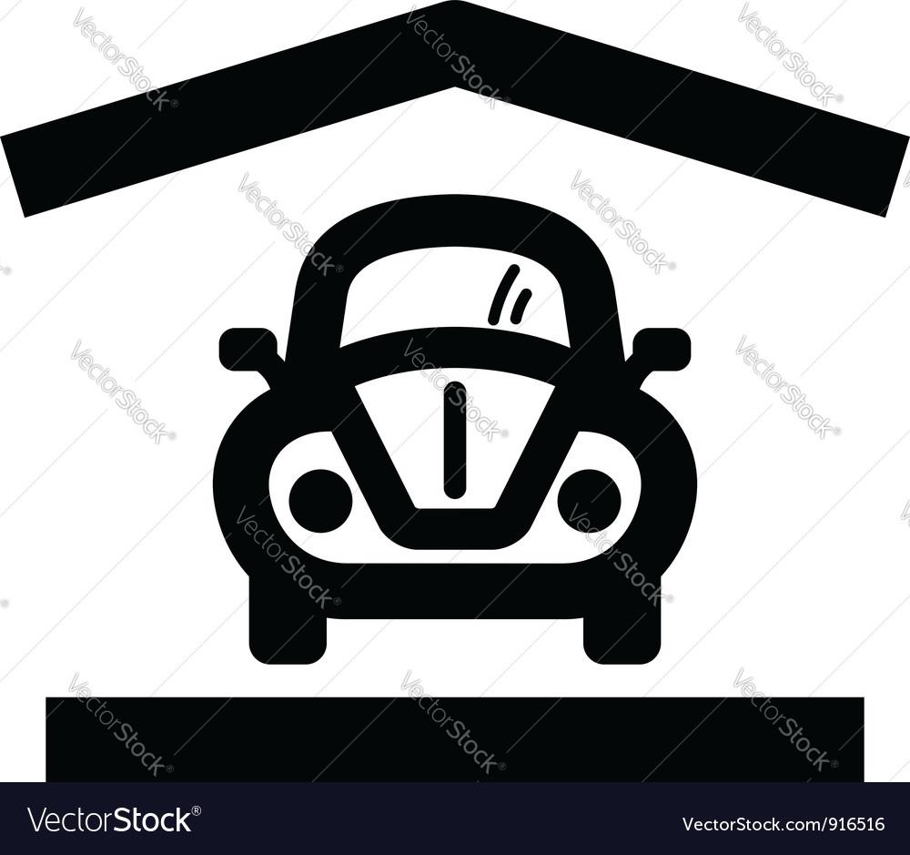 Home garage icon vector | Price: 1 Credit (USD $1)