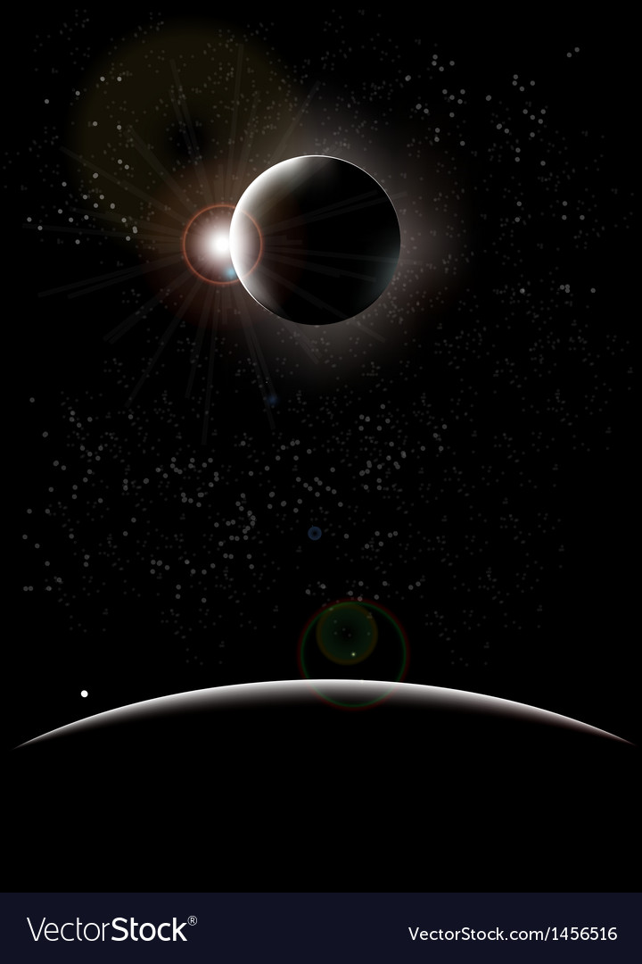 Moon eclipse vector | Price: 1 Credit (USD $1)