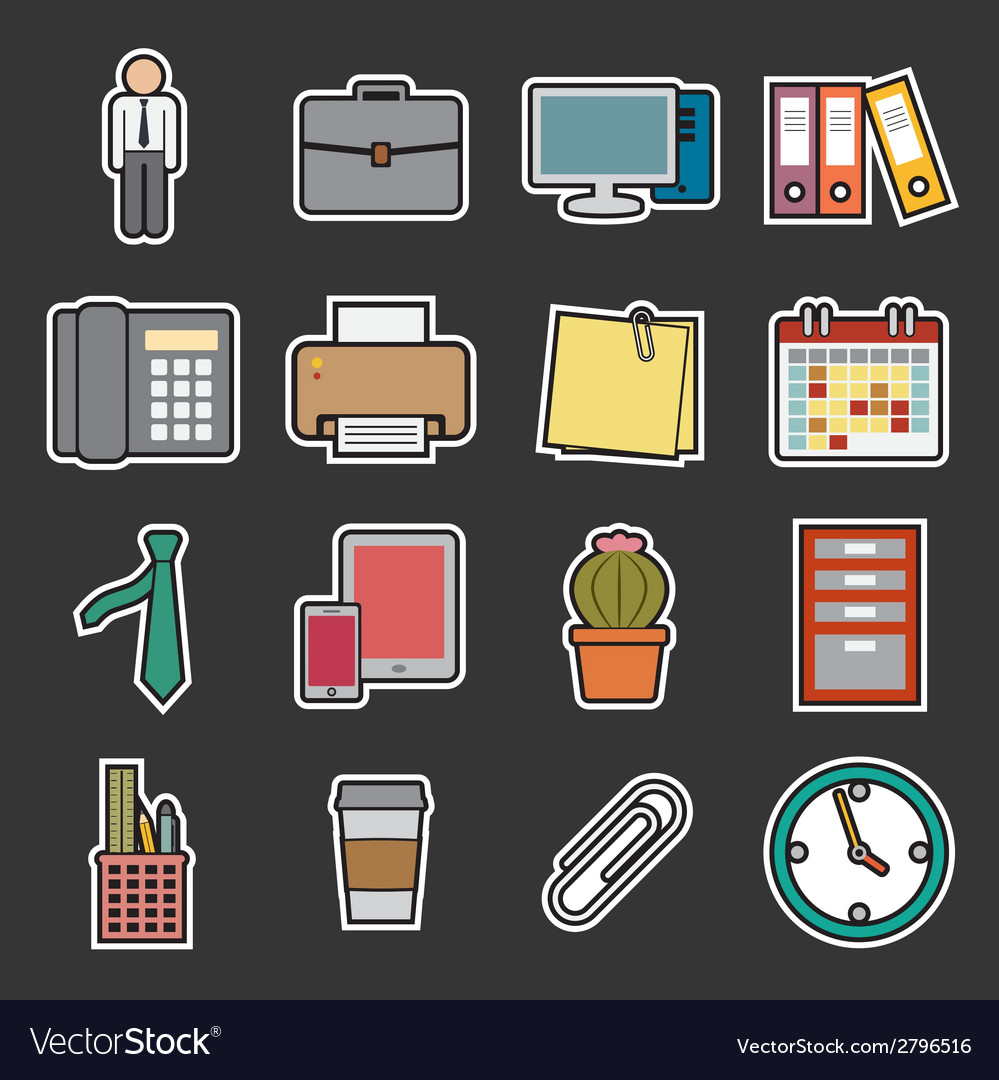 Office icon vector | Price: 1 Credit (USD $1)