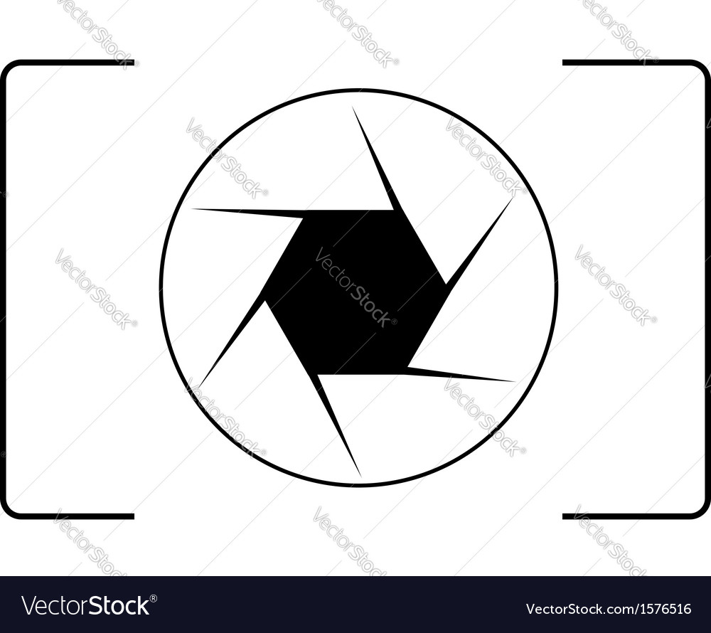 Photography logo with an aperture vector | Price: 1 Credit (USD $1)