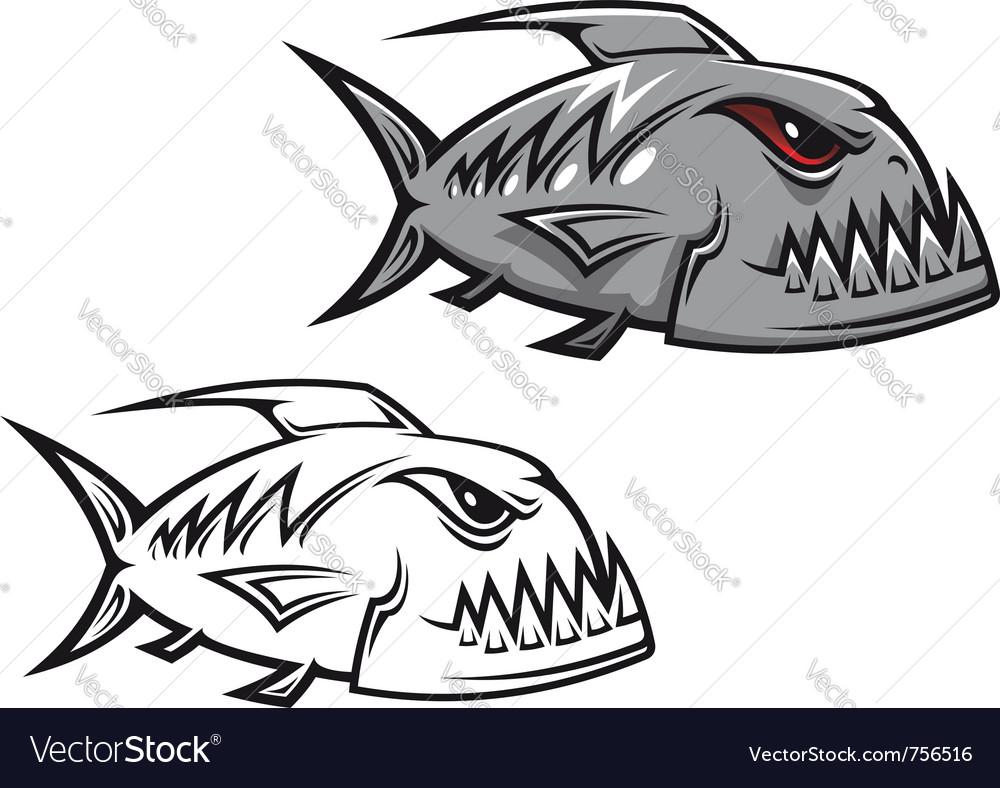 Piranha fish vector | Price: 1 Credit (USD $1)