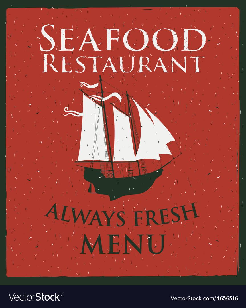 Seafood ship vector   Price: 1 Credit (USD $1)