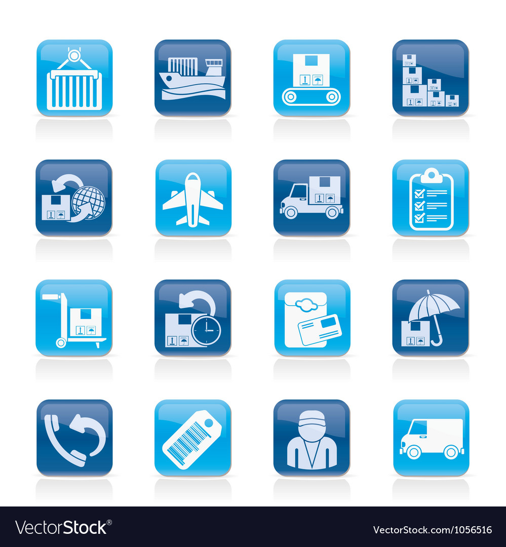 Shipping and delivery icons vector | Price: 1 Credit (USD $1)