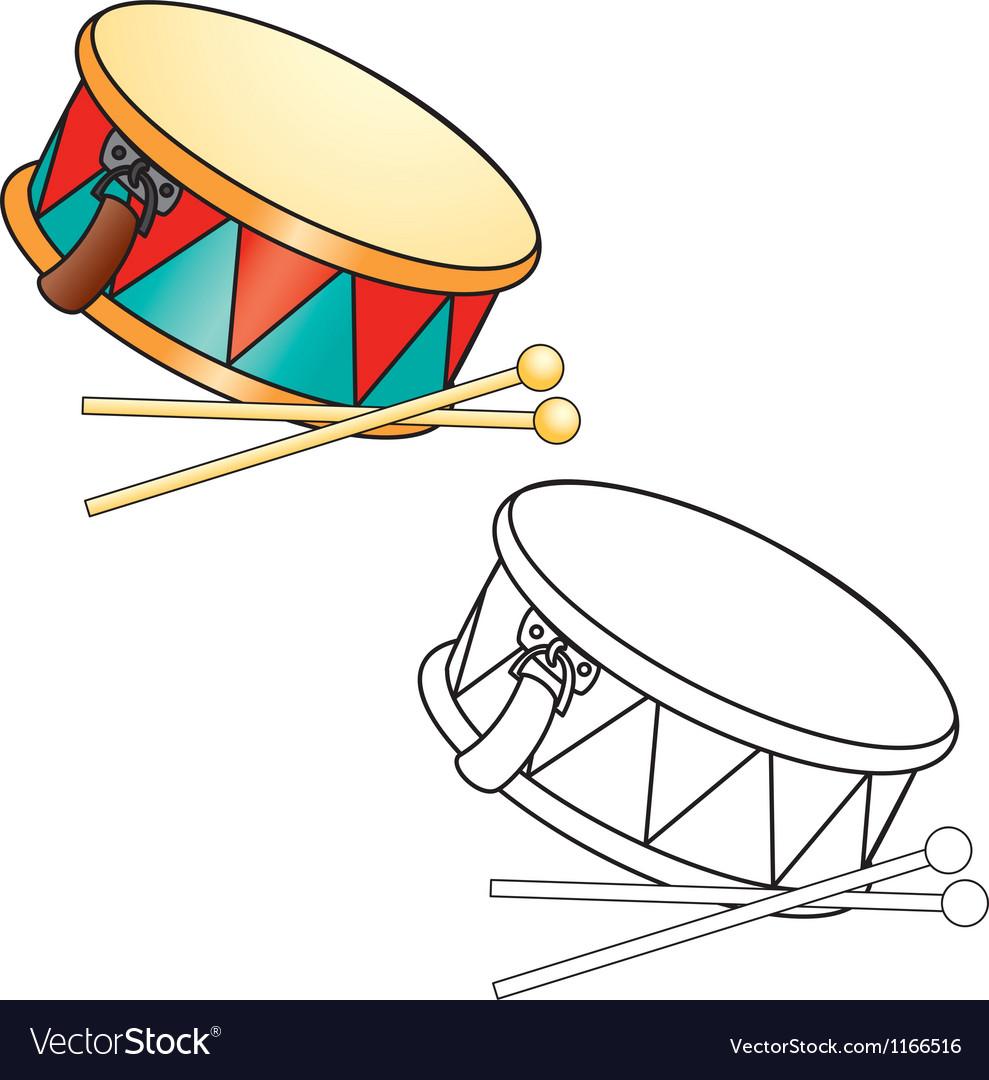 Toy drum vector   Price: 1 Credit (USD $1)