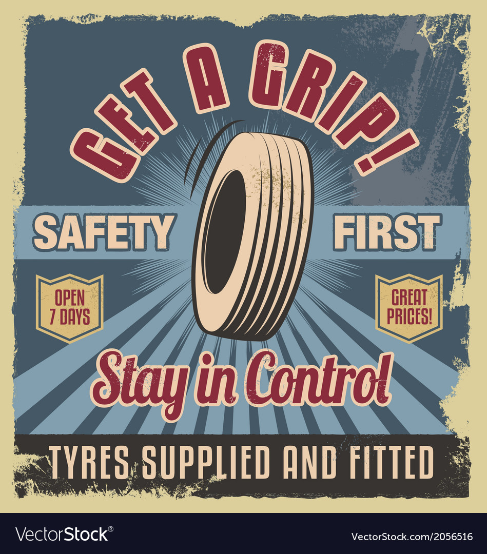 Vintage metal sign -retro garage poster vector | Price: 3 Credit (USD $3)
