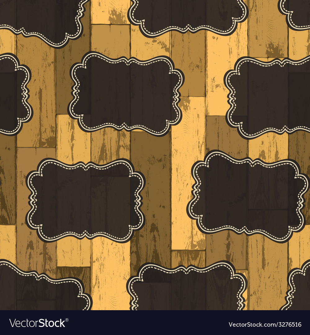 Wild west labels seamless pattern vector | Price: 1 Credit (USD $1)