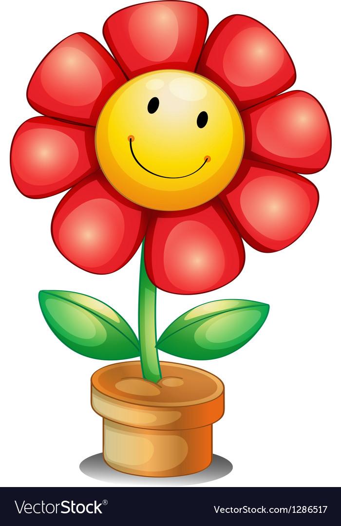 A flower inside a pot vector   Price: 1 Credit (USD $1)