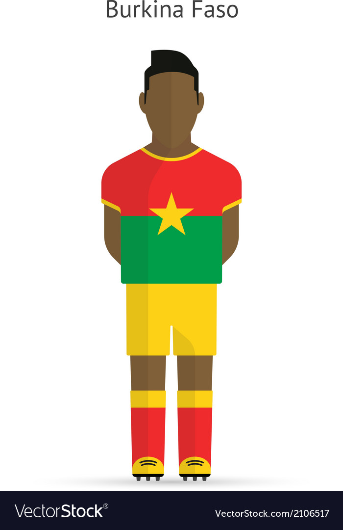 Burkina faso football player soccer uniform vector | Price: 1 Credit (USD $1)