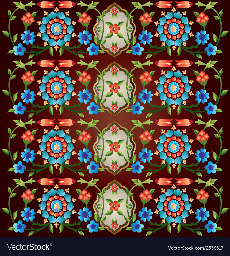 Ottoman motifs design series fifty eight version vector | Price: 1 Credit (USD $1)
