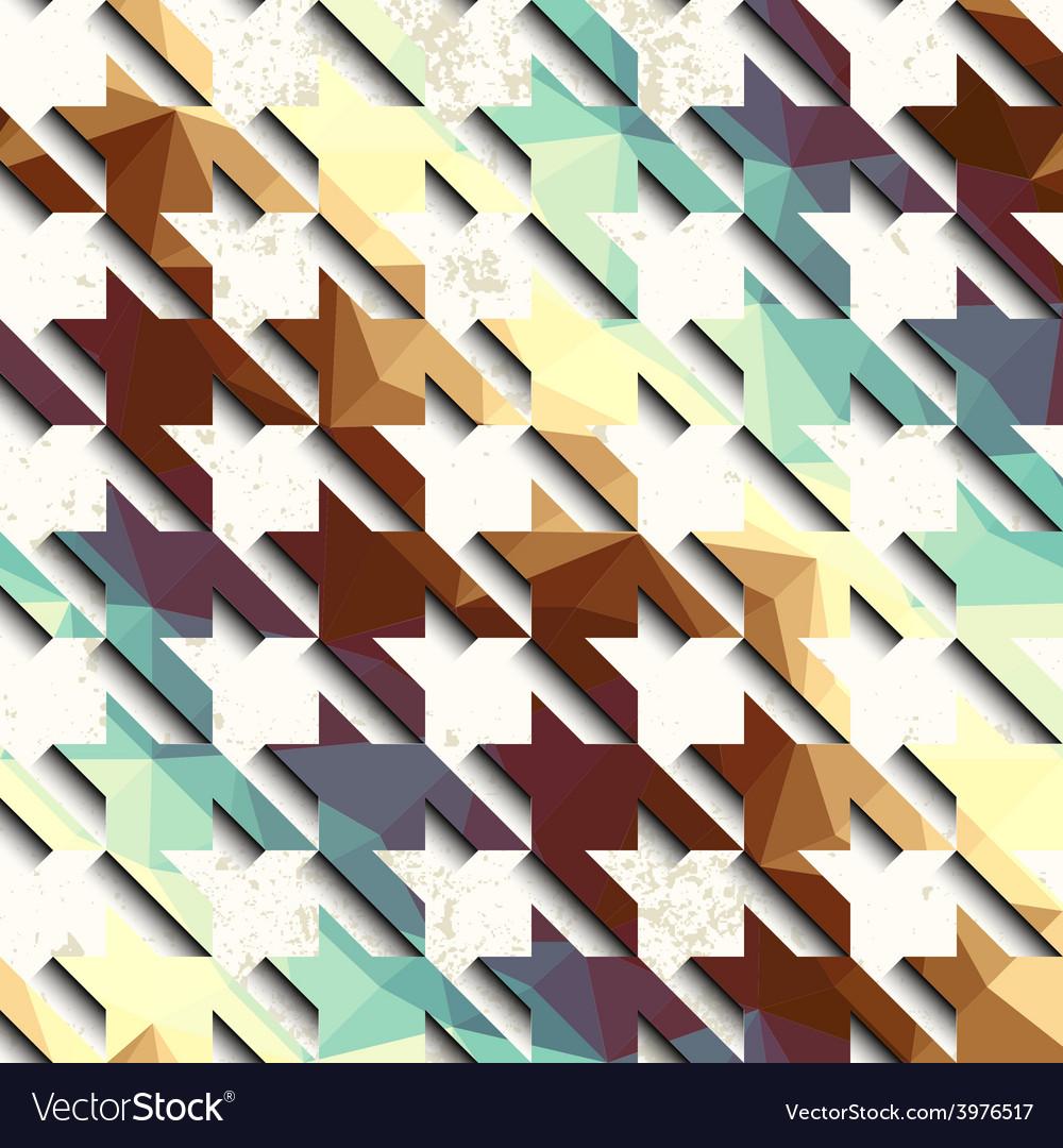 Retro pattern on grunge background vector | Price: 1 Credit (USD $1)