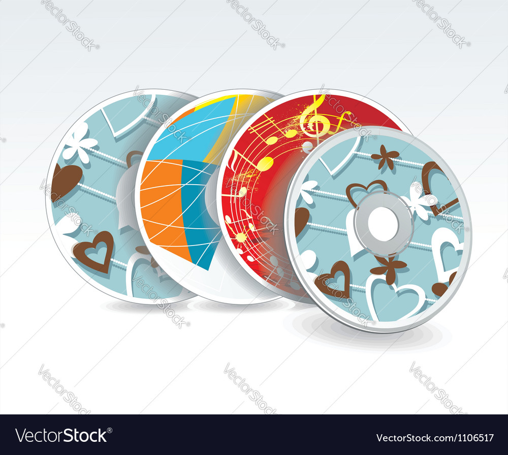Set of cd cover design template design vector | Price: 1 Credit (USD $1)