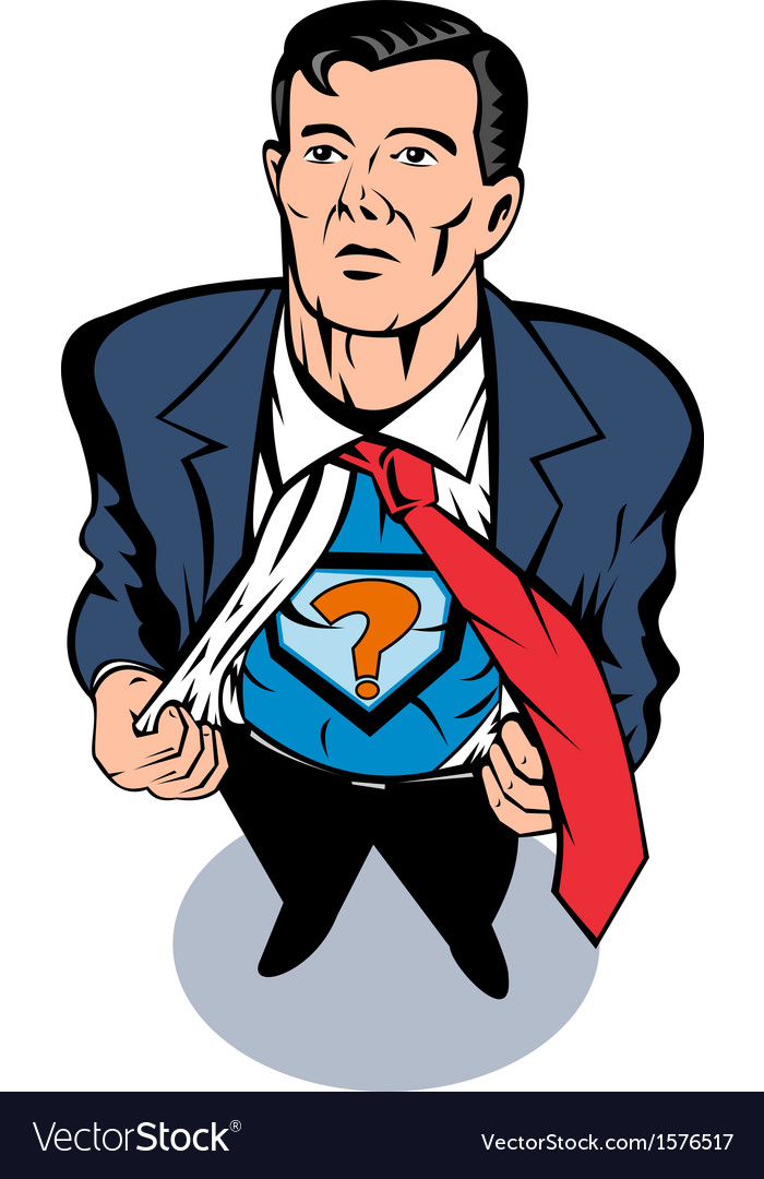 Super hero taking off suit vector | Price: 1 Credit (USD $1)