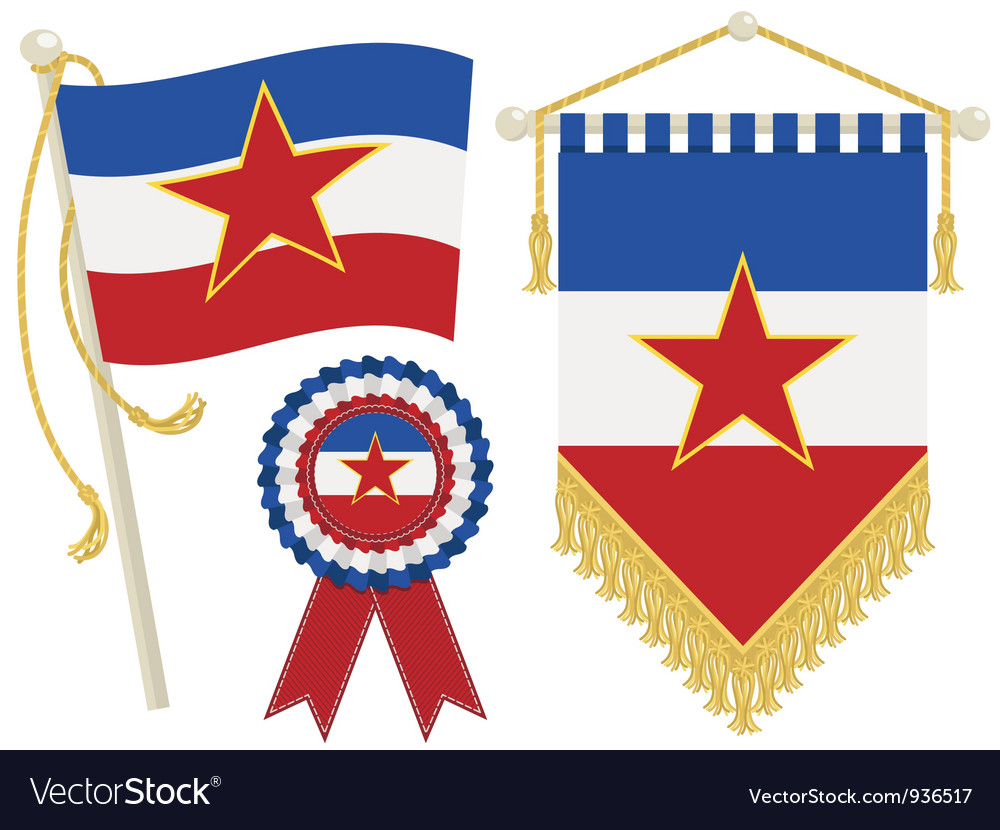 Yugoslavia flags vector | Price: 1 Credit (USD $1)