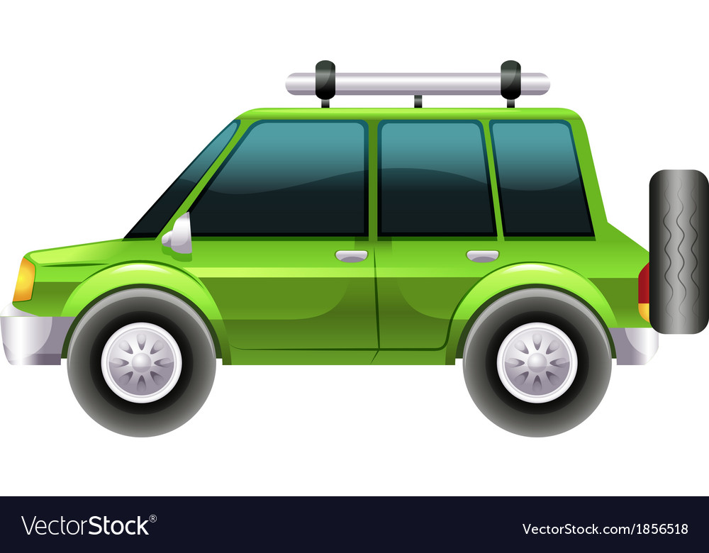 A green van vector | Price: 1 Credit (USD $1)