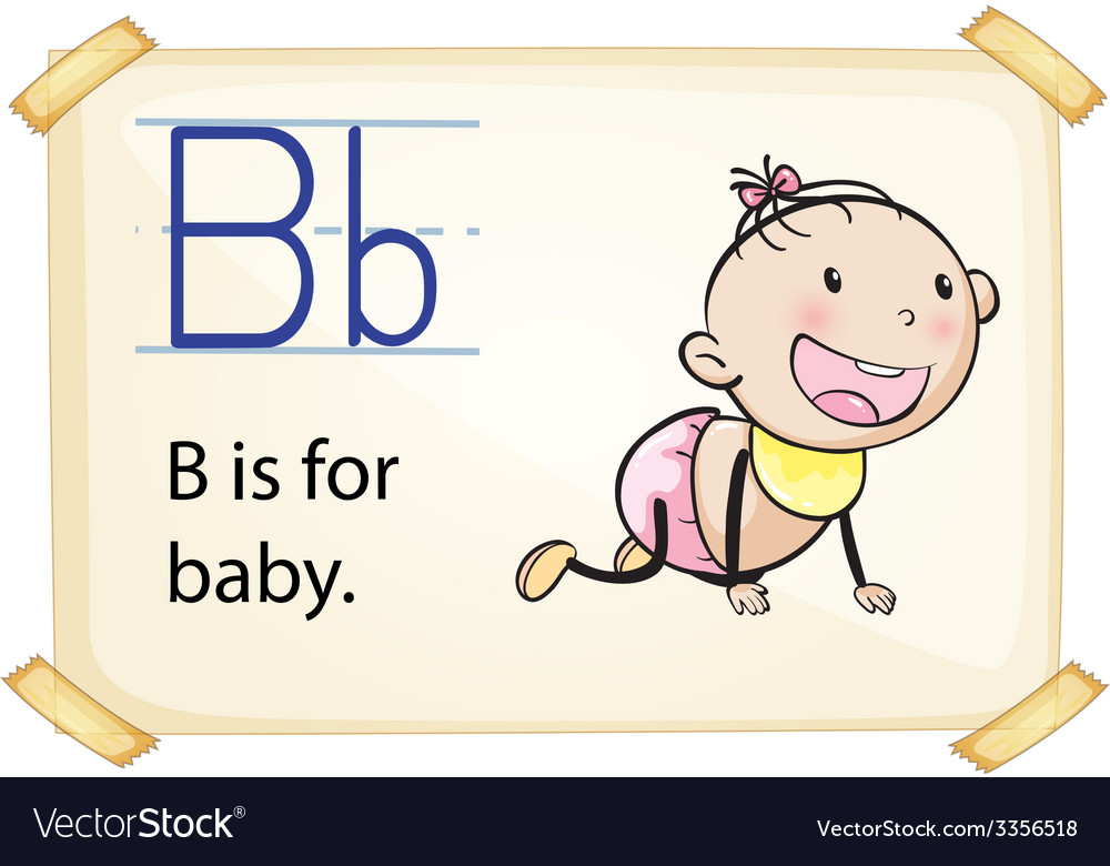 A letter b for baby vector   Price: 3 Credit (USD $3)