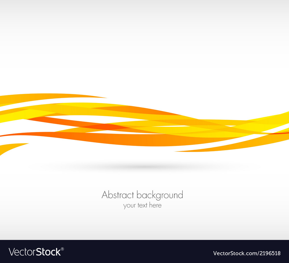 Abstract orange wave background vector | Price: 1 Credit (USD $1)