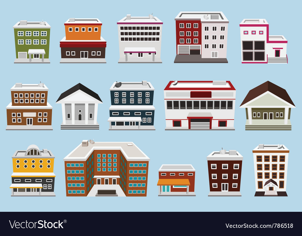 Building collection vector | Price: 3 Credit (USD $3)