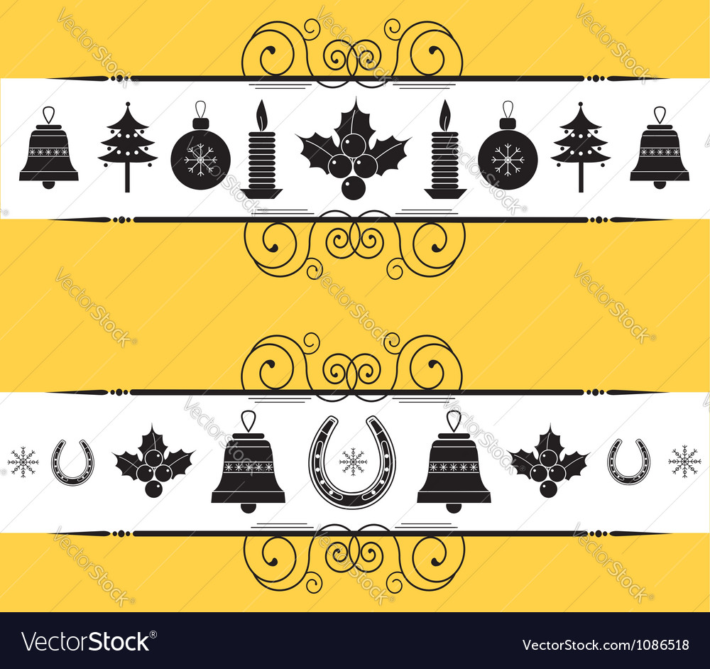 Christmas decor elements for designnew year back vector | Price: 1 Credit (USD $1)