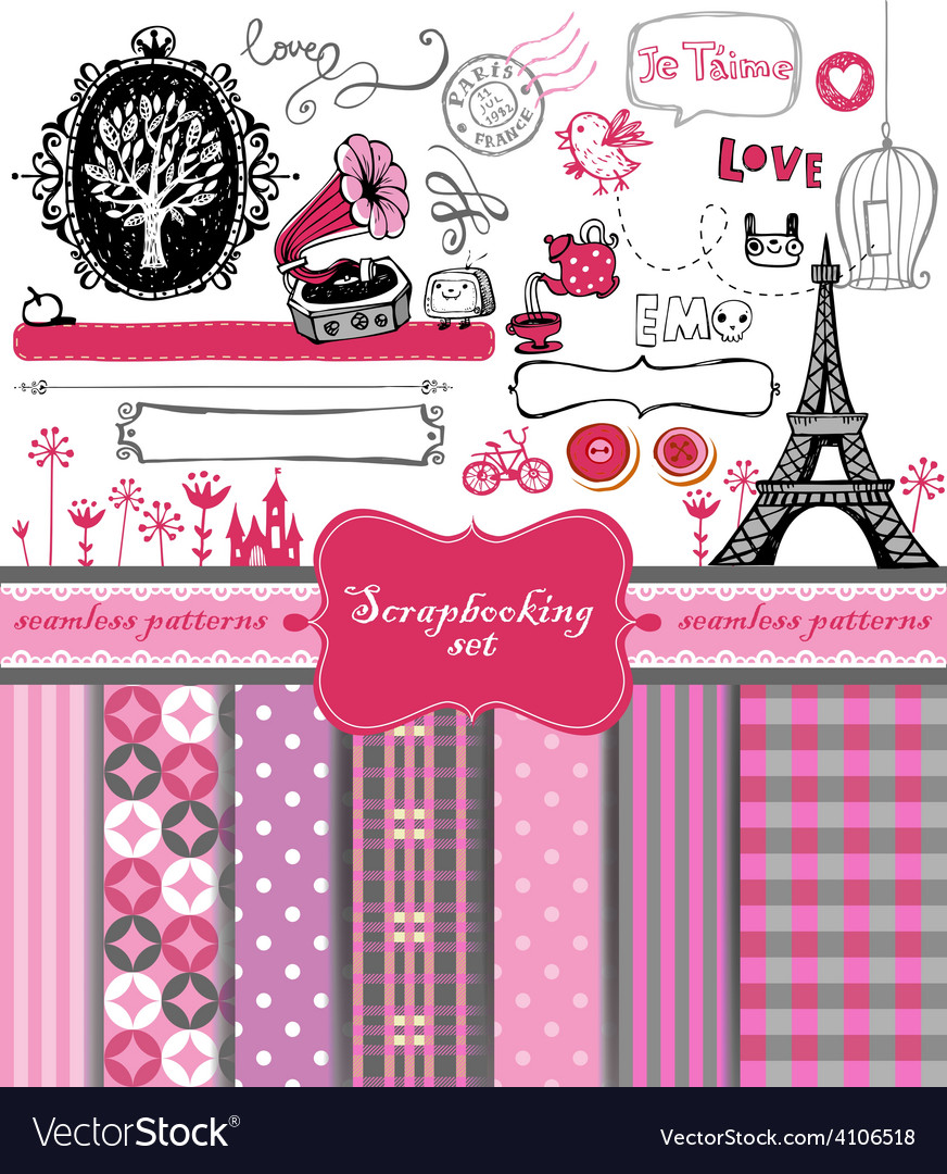 Doodle vintage objects - scrapbook collection vector | Price: 1 Credit (USD $1)