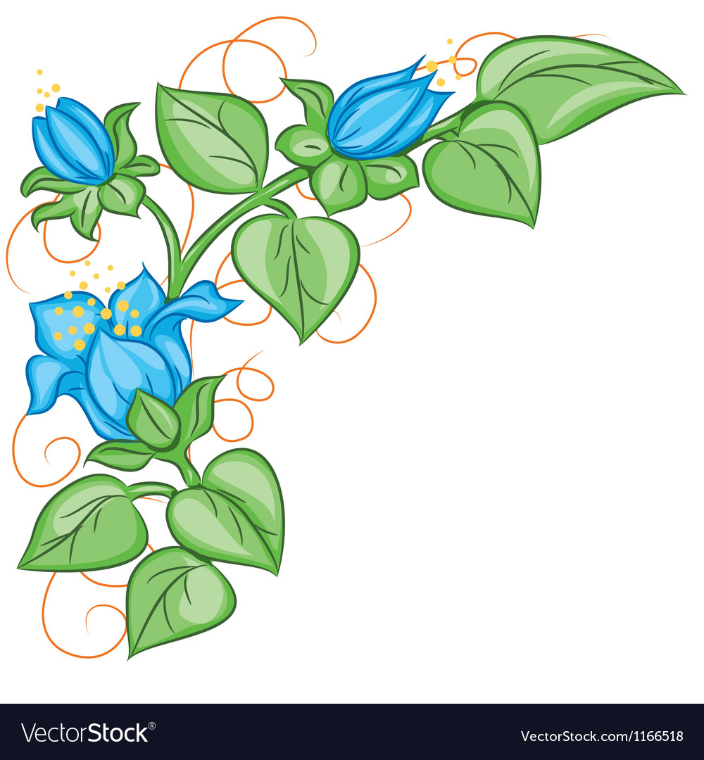 Floral decoration element vector | Price: 1 Credit (USD $1)