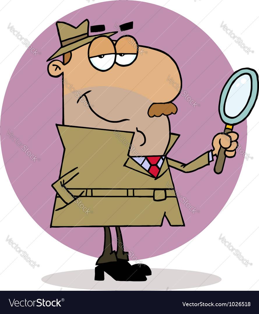 Hispanic cartoon investigator man vector   Price: 1 Credit (USD $1)