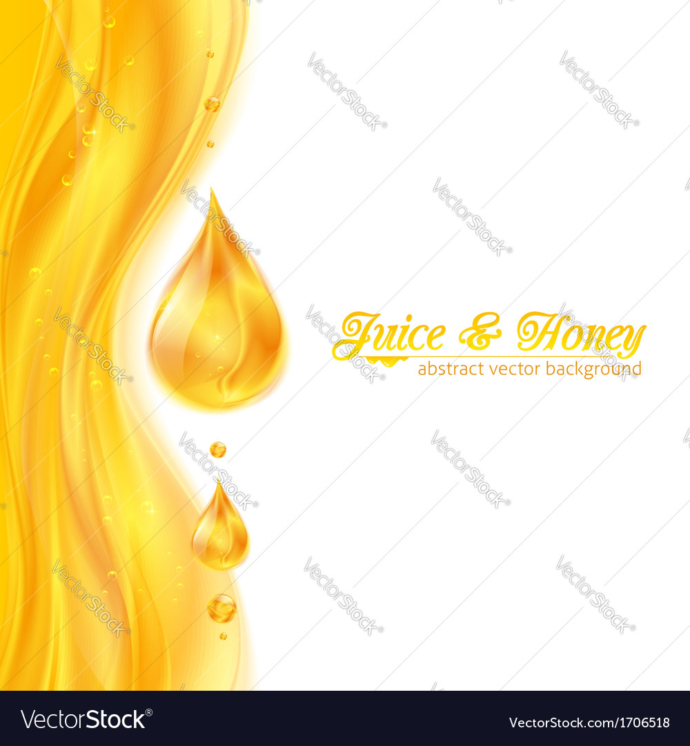 Honey colors juicy background with drops vector | Price: 1 Credit (USD $1)