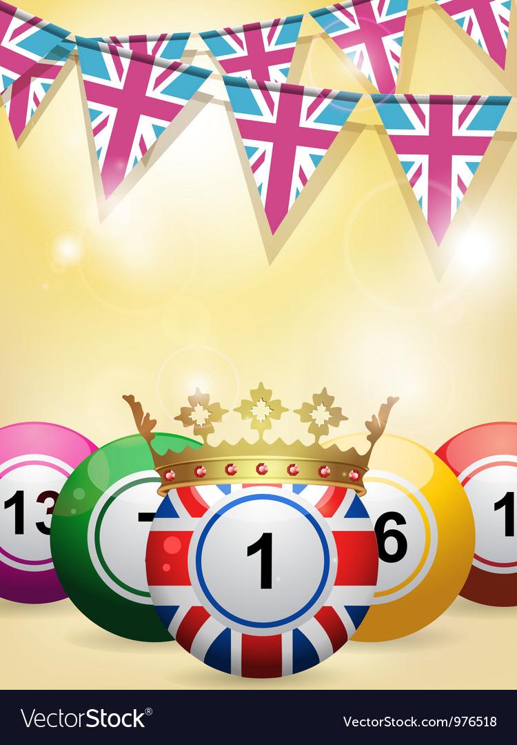 Lottery bingo background vector | Price: 1 Credit (USD $1)