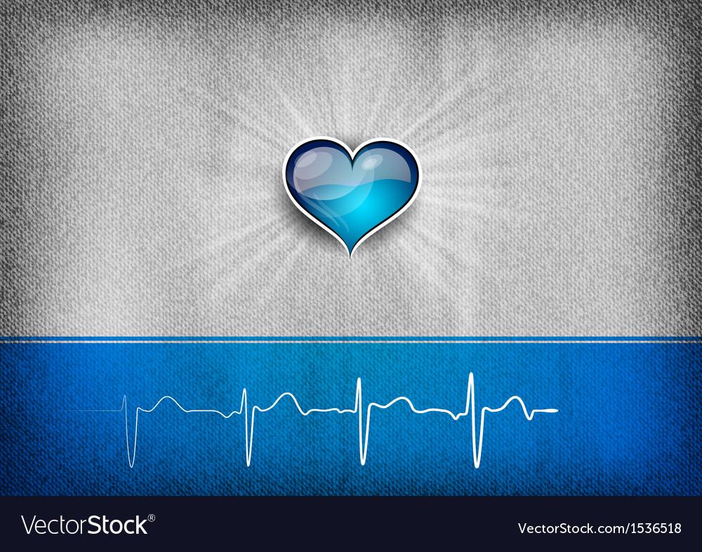 Medical cardio heart grey blue vector | Price: 1 Credit (USD $1)