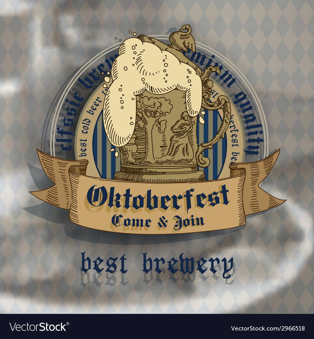 Oktoberfest design vector | Price: 1 Credit (USD $1)