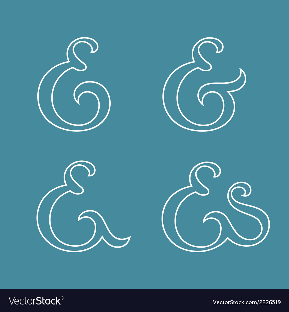 Ampersands collection vector   Price: 1 Credit (USD $1)