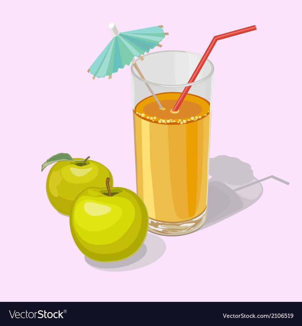 Apple juice vector | Price: 1 Credit (USD $1)