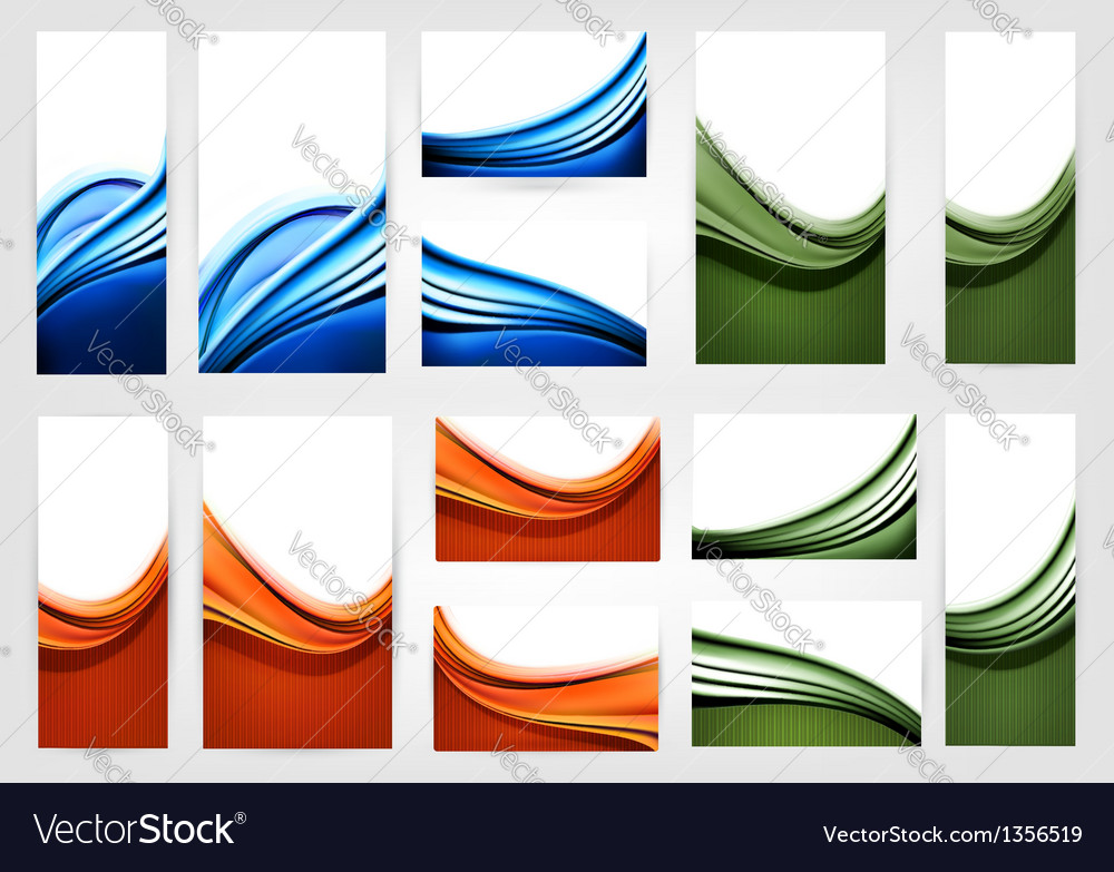 Big collection of colorful business cards vector | Price: 3 Credit (USD $3)