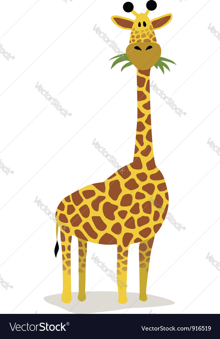 Cartoon giraffe vector | Price: 1 Credit (USD $1)