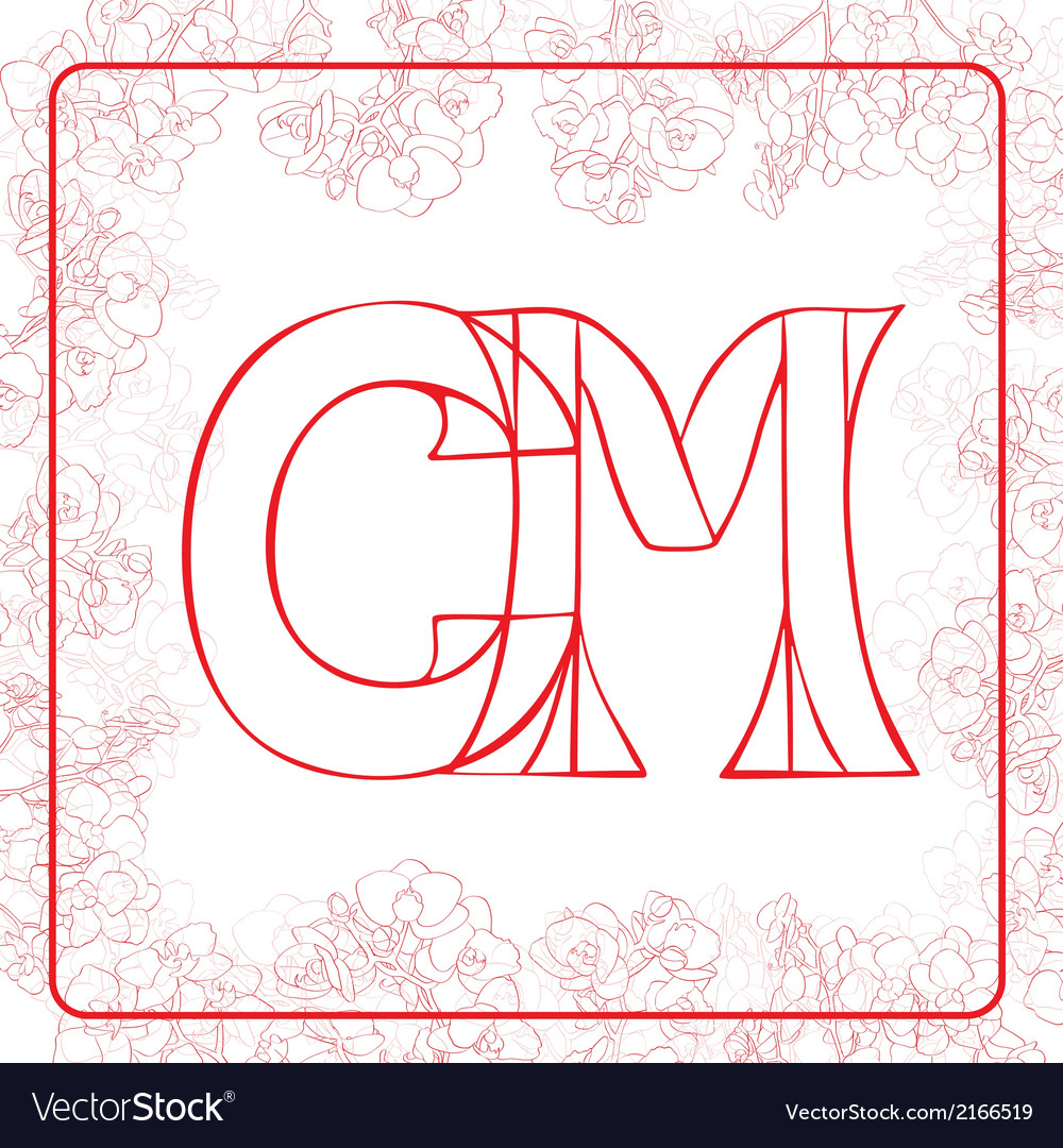 Cm monogram vector | Price: 1 Credit (USD $1)