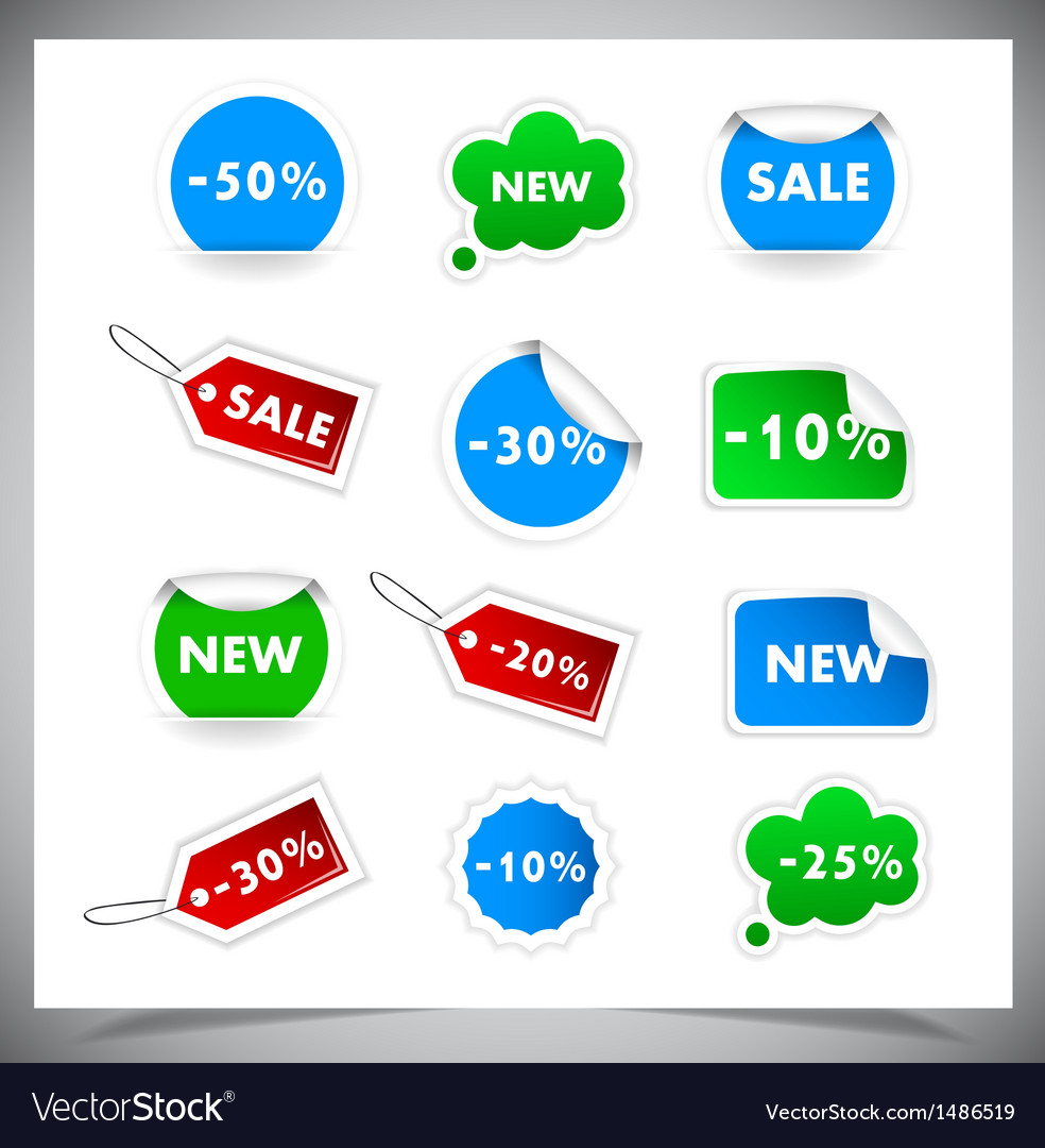 Collection of selling badges and stickers vector | Price: 1 Credit (USD $1)