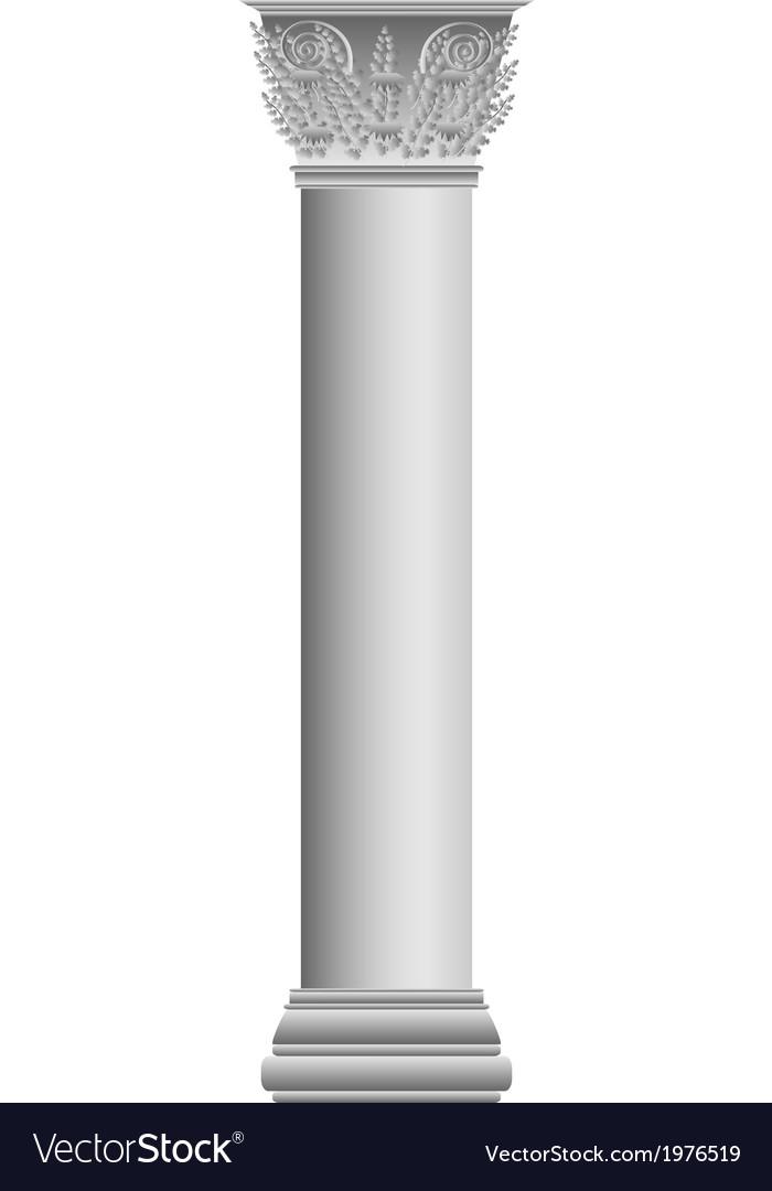 Corinthian column vector | Price: 1 Credit (USD $1)