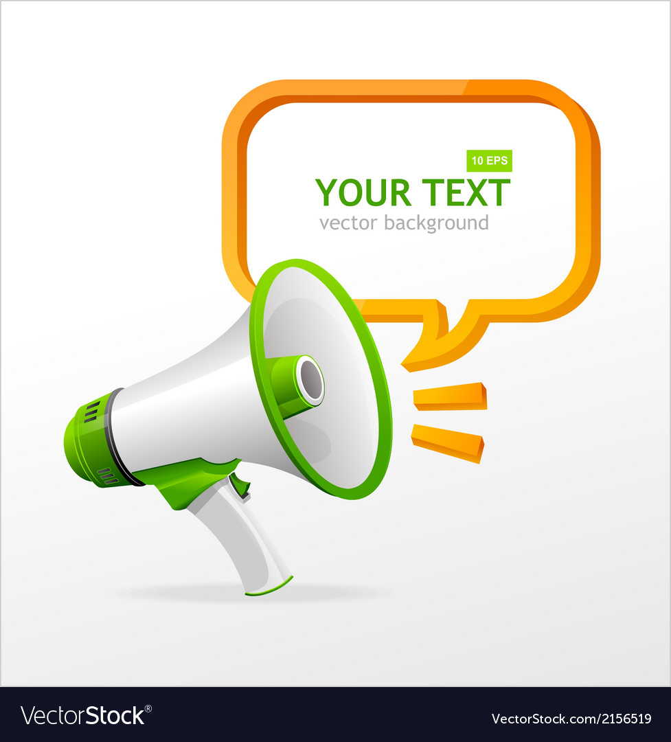 Megaphone speech templates for text vector | Price: 1 Credit (USD $1)